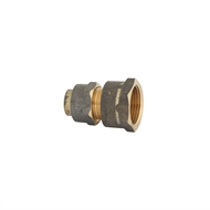 Kinetic 20FL x 15FL Brass Flared Compression Union