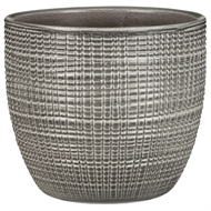 Scheurich 22 x 20cm Indoor Glazed Pot - Grey