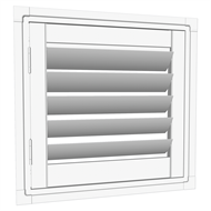 EasyAS 610 x 600mm White Adjustable Plantation Shutter