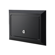 Sandleford Black Galvanised Front And Back Brick Insert Mailbox