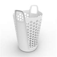 Ezy Storage 57L Flexi Laundry Hamper - White