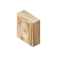 Corner Block Clear Pine 75 x 75 x 25mm