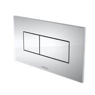 Caroma Satin Chrome Invisi Series II Rectangle Metal Dual Flush Plate And Buttons