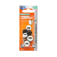 Zenith Chrome Plated Mirror Fixing Kit - 4 Pack