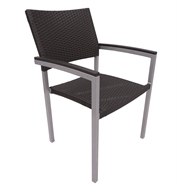 Hartman 600 x 550mm Jasper Gloss Silver / Abyss Aluminium / Wicker Chair