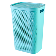 Curver 60L Infinity Laundry Hamper with Lid - Blue