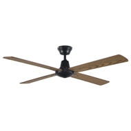 Brilliant 120cm 4 Blade Austin Ceiling Fan - Matt Black and Maple