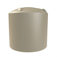 Melro 5500L Poly Round Water Tank - Wheat