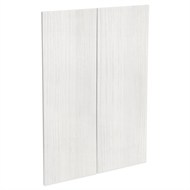 Kaboodle 900mm White Forest Modern Medium Pantry Door - 2 Pack