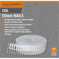 Craftright 50mm Galvanised Coil Nails