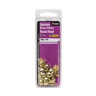Paslode 4.8 x 2mm Brass Plated Round Head Upholstery Nails - 35 Pack