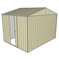 Build-a-Shed 3.0 x 2.3 x 2.3m Gable Single Sliding Side Door Shed - Cream