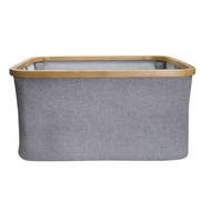 Hills Foldable Bamboo Laundry Basket - Smoke