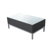 Mimosa Aluminium Ancona Sling Coffee Table with Glass Top