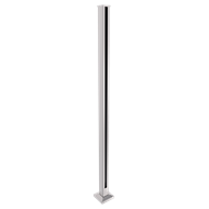 Architects Choice 50 x 50 x 1300mm Silver Glass Fence Flanged End Post