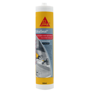 Sika 300ml White SikaSeal Kitchen and Bathroom Silicone Sealant