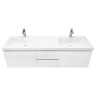 Cibo Design 1500mm White Element Double Basin Vanity