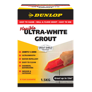 Dunlop 1.5kg Ultra White Flexible Coloured Grout