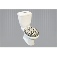 Loo With A View 2 Piece Mosaic Black Toilet Seat