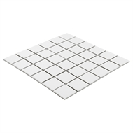 Decor8 Tiles 306 x 306mm White Matt Square Procelain Mosaic Tile