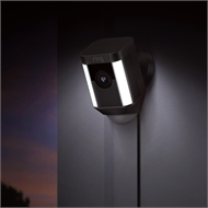 Ring Black Wired Spotlight Cam