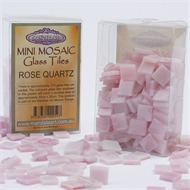 Mandala Art Mini Rose Quartz Mosaic Glass Tiles Pack