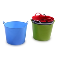 Ezy Storage 16L Assorted Colours Flexi Storage Tub
