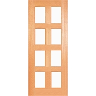 Woodcraft Doors 2040 x 820 x 35mm Kensington Clear Safety Glass Internal Door