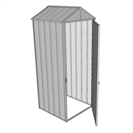 Build-a-Shed 0.8 x 0.8 x 2.3m Gable Single Hinged Door Shed - Zinc