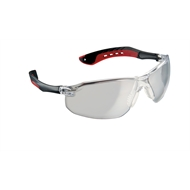 3M Flat Temple Safety Glasses Black/Clear