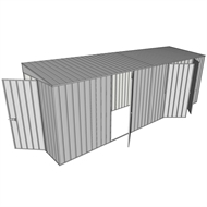 Build-a-Shed 1.5 x 6 x 2m Hinged Door Tunnel Shed with 3 Hinged Side Doors - Zinc