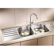 Blanco Median Left Hand Double Bowl With Drainer Inset Sink