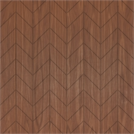 Easycraft 2400 x 1200 x 10mm American Walnut Chevron - Expression Series