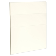 Kaboodle 600mm Antique White Modern 3 Drawer Panels