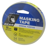 Bear 18mm x 50m General Purpose Masking Tape