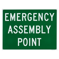 Sandleford 450 x 600mm Emergency Assembly Point Plastic Sign