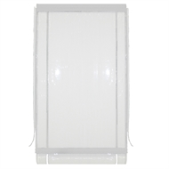 Bistro Blinds 210 x 240cm White and Clear PVC Outdoor Blind