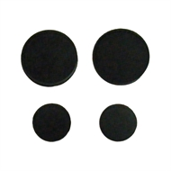 Kinetic 11mm And 19mm Black Rubber Ballcock Washers - 4 Pack
