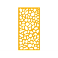 Protector Aluminium 900 x 1200mm ACP Riverstone Decorative Unframed Panel - Dark Yellow