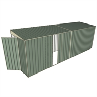 Build-a-Shed 1.5 x 6 x 2m Hinged Door Tunnel Shed With Sliding Side Door - Green