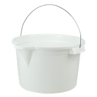 HomeLeisure Trend White 15L Bucket