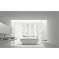 Bellessi 920 x 2000 x 4mm Motiv Polymer Bathroom Panel - White Wash