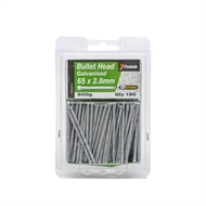 Paslode 65 x 2.8mm 500g Galvanised Bullet Head Nails - 130 Pack