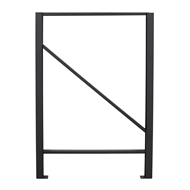 Rack It 1000kg 917 x 640mm Black Upright