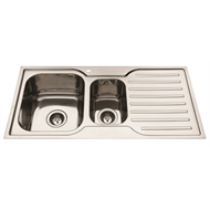 Everhard 980mm Squareline 1½ Bowl Kitchen Sink With Drainer