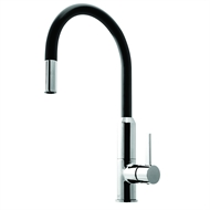 Dorf Vixen Black Retractable Sink Mixer