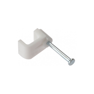 HPM 5mm White Flat Cable Clips - 200 Pack
