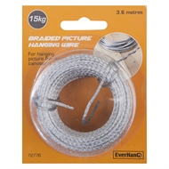 Everhang 3.6m 15kg Load Braided Picture Hanging Wire