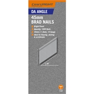 Craftright 45mm Galvanised DA Angle Brad Nails - 1000 Pack