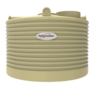 Polymaster 2250L Squat Round Corrugated Poly Water Tank - Wheat